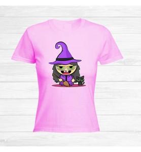 Camiseta Chica Halloween Bruja