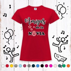 Camiseta Amigas de la Novia