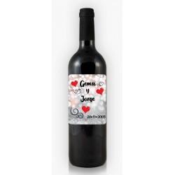 Botella de Vino Enamorados