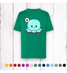 Camiseta Infantil Pulpo...