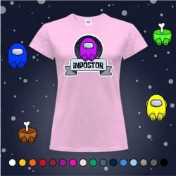 Camiseta Chica Impostor Morado