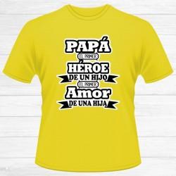 Camiseta Papá Héroe Hijo...