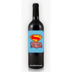 Botella de Vino Super Papá