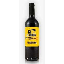 Botella de Vino Si El...