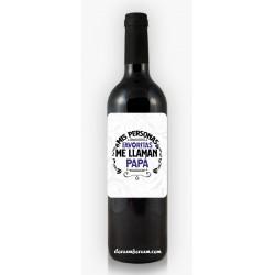 Botella de Vino Papá...