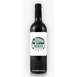 Botella de Vino Abuelo...
