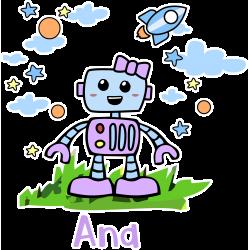 Lienzo Robot Niña