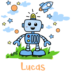 Lienzo Robot Niño