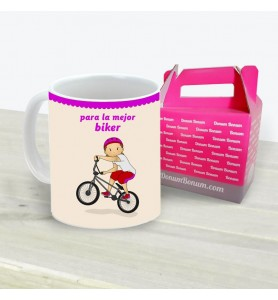 Taza Biker Chica