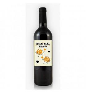 Botella de Vino Media Naranja