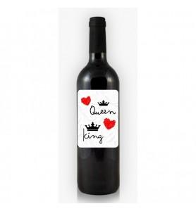 Botella de Vino Queen King