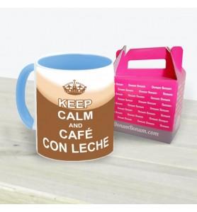 Taza Keep Calm Café Con Leche