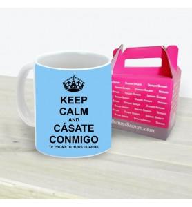 Taza Keep Calm Cásate Conmigo