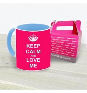 Taza Keep Calm Love Me