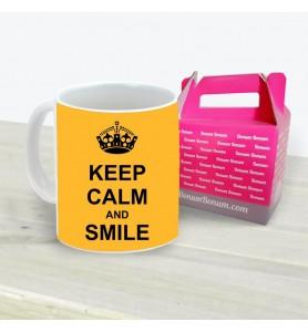 Taza Keep Calm Smile