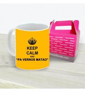 Taza Keep Calm Pa Vernos Matao