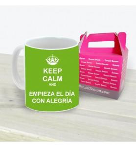 Taza Keep Calm Empieza Día...