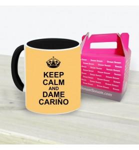 Taza Keep Calm Dame Cariño