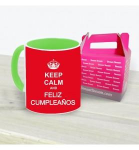Taza Keep Calm Feliz...