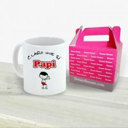 Taza Claro Que Sí Papi