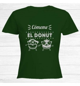 Camiseta Cómeme Donut Plata...