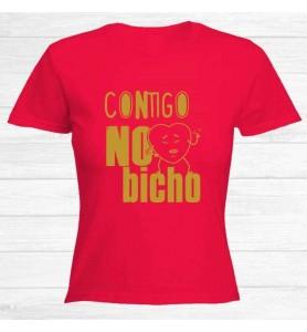 Camiseta Contigo No Bicho...