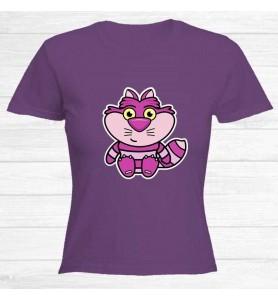 Camiseta Gato Cheshire Chica