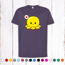 Camiseta Chico Pulpo Reversible Amarillo Contento