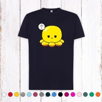 Camiseta Chico Pulpo Reversible Amarillo Enfadado
